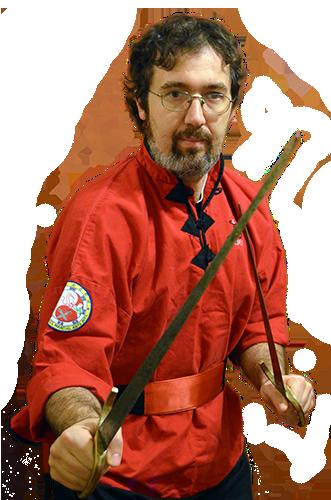 Sifu Pietro Nicolaus Roselli Lorenzini con le doppie spade